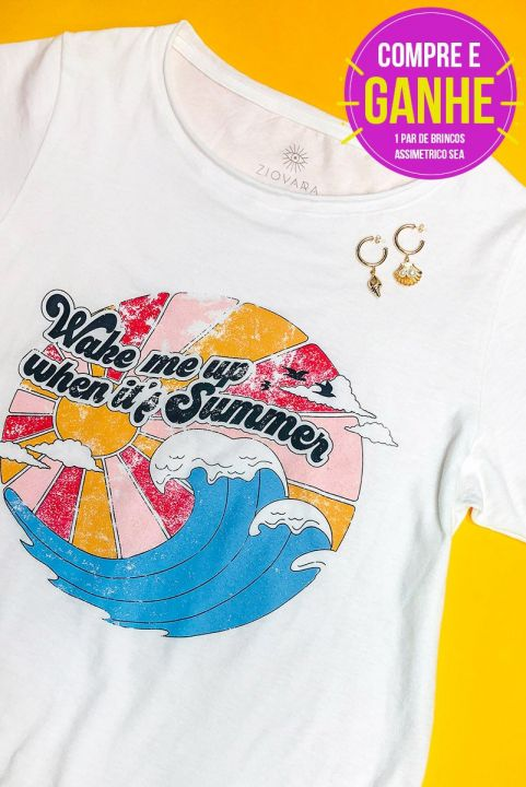 T-shirt Wake Me Up When It's Summer + BRINCO GRÁTIS