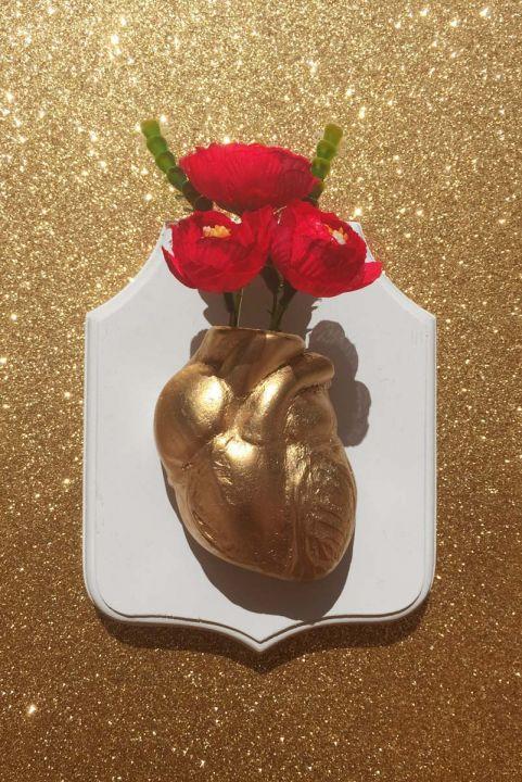 Vaso de Parede Decor Coração