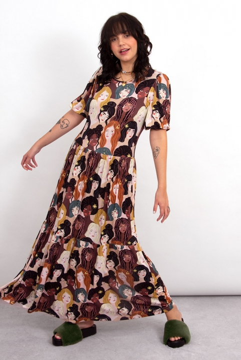 Vestido Breezy Malha Garoutas
