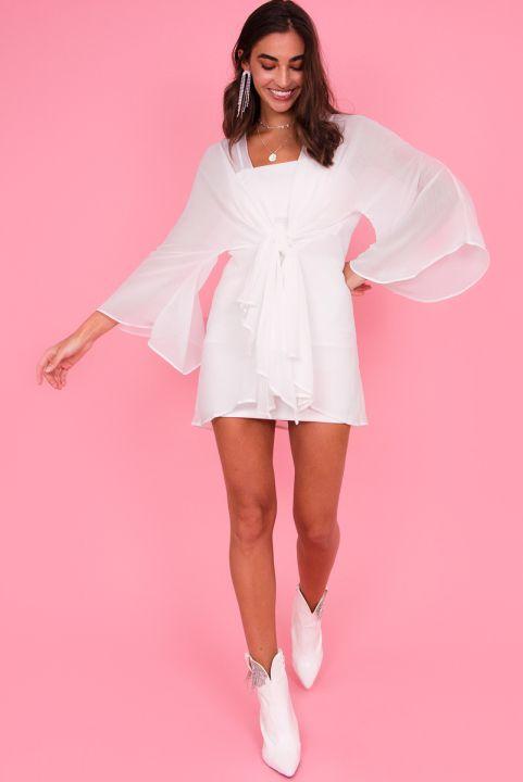 Vestido com Kimono Branco