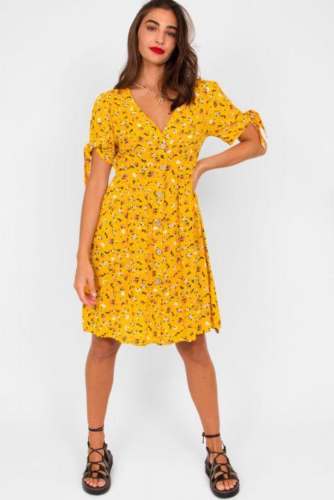 Vestido Floral Sauípe - Amarelo