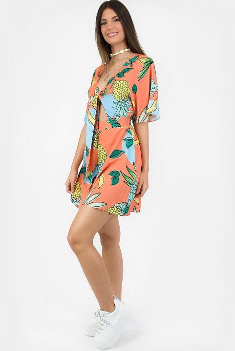 Vestido Fruta-Flor Coral