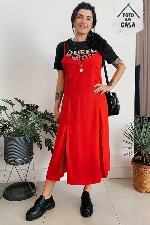 Vestido Midi Amarração Cherry