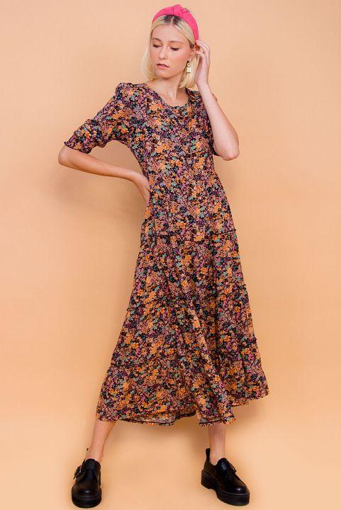 Vestido Midi Floral Fallen