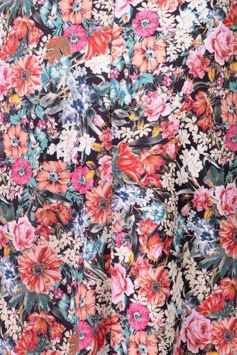 Vestido Midi Manguinha Floral da Noite