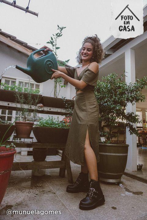 Vestido Midi Manguinha - Oliva