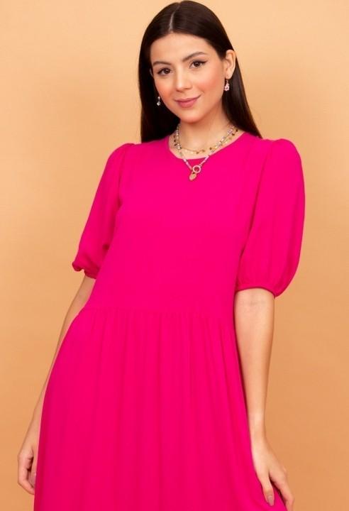 Vestido Midi Marias Pink