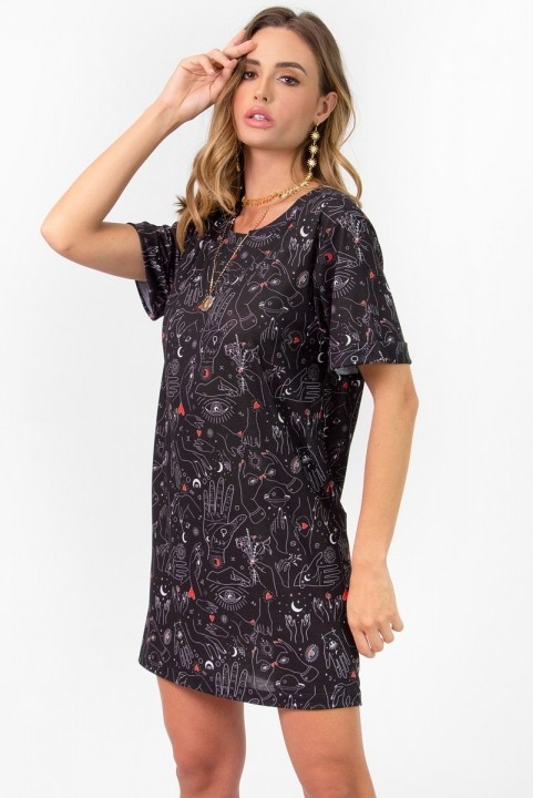 Vestido T-shirt Dress Malha Hands