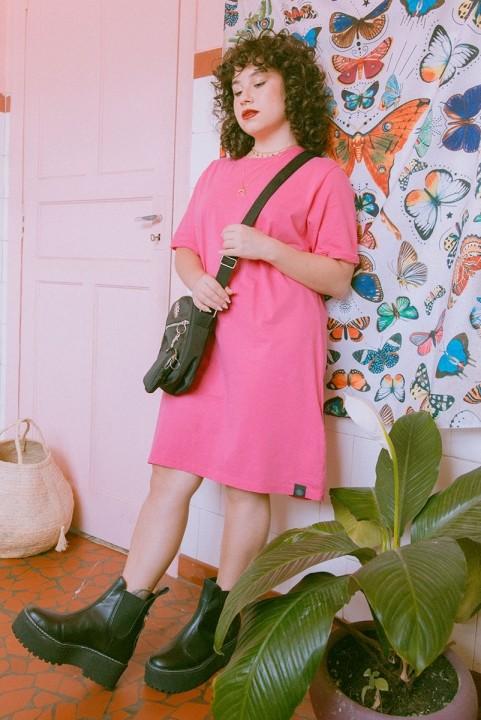 Vestido T-shirt Pink Azalea