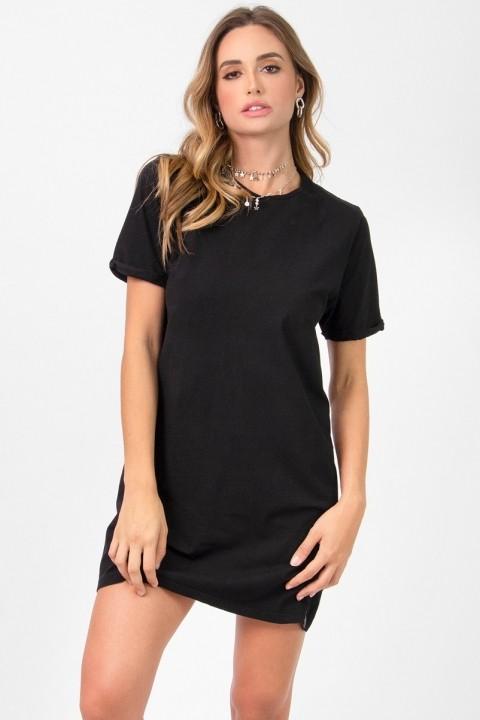 Vestido T-shirt Preto