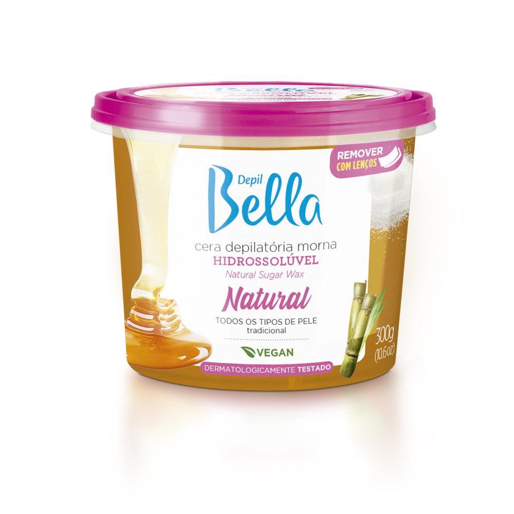 Cera Hidrossolúvel Natural Depil Bella 300g