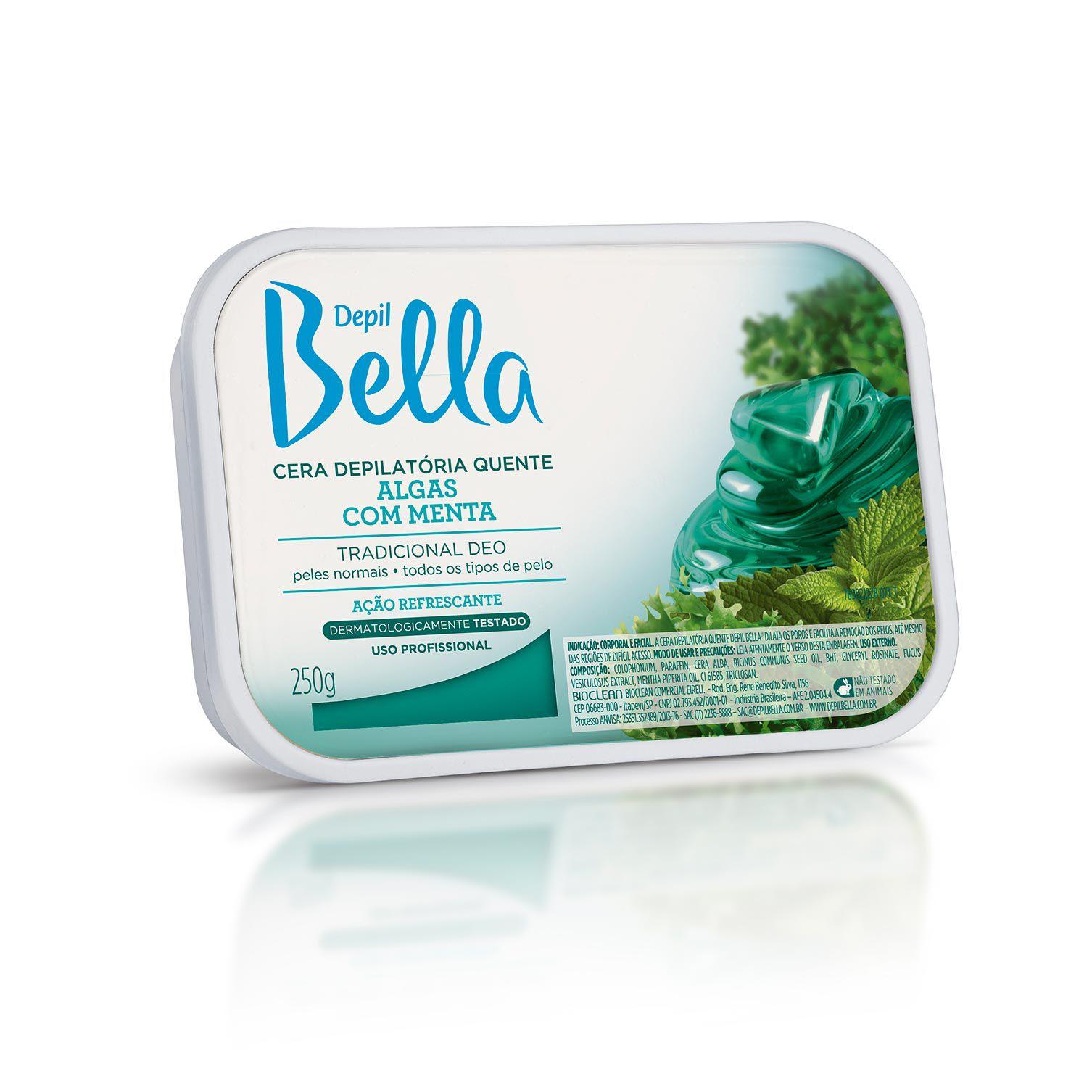 Cera Quente em Barra Depil Bella Algas com Menta Deo 250 g