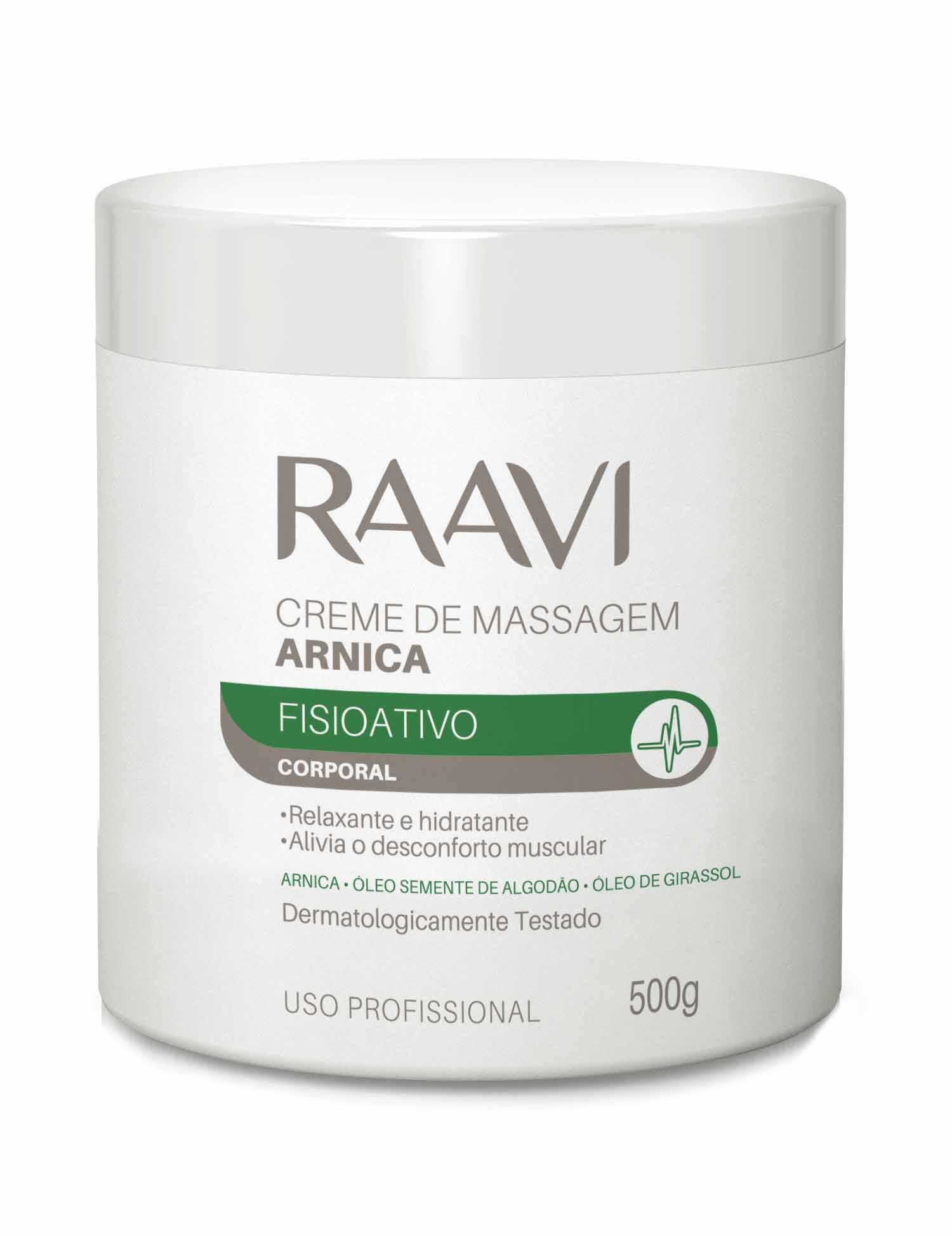 Creme de Massagem Arnica Raavi 500g