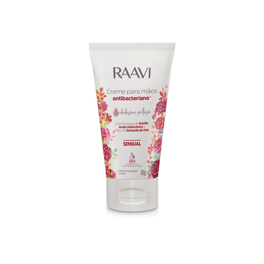 Creme Para Mãos Antibacteriano Sensual 50g - Raavi