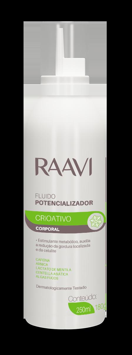 FLUÍDO POTENCIALIZADOR CRIOTERÁPICO RAAVI 250ML/ 180G