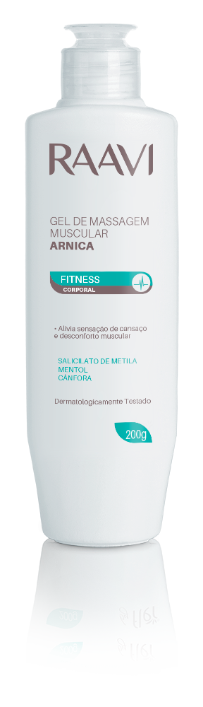 GEL DE MASSAGEM MUSCULAR ARNICA RAAVI 200G