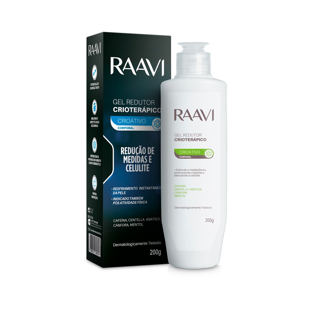 Gel Redutor Crioterápico Redutor Raavi 200 g