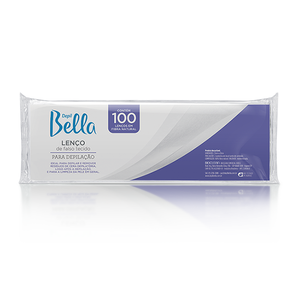 Lenço de Falso Tecido TNT Para Depilação 100 fls Depil Bella