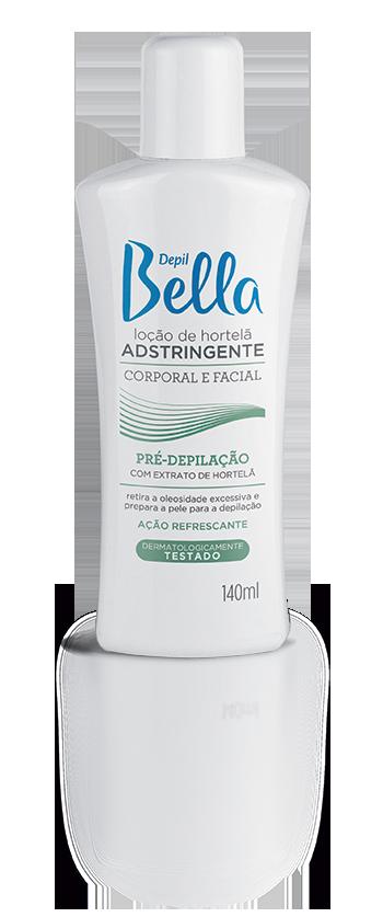 Loção Pré Depilatória Adstringente Depil Bella de Hortelã 140 ml