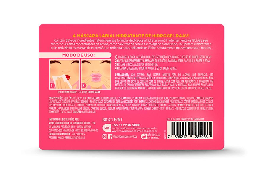 Oferta Secreta - Máscara Hidratante Labial Hidrogel - Raavi