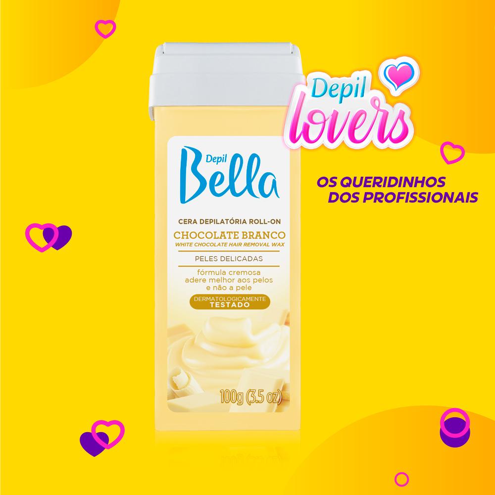 Refil Roll-on Cremoso Chocolate Branco Depil Bella 100g