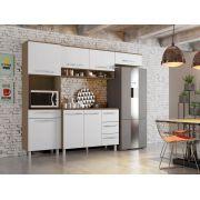 Armário para Cozinha Carol 4 Peças Montana Branco - Madine Móveis