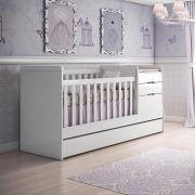 Berço Multifuncional Cleo Branco Fosco Carolina Baby