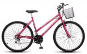Bicicleta Colli Allegra City Pink Aro 26 18 Marchas Freios V-Break