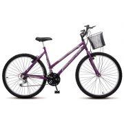 Bicicleta Colli Allegra City Violeta Aro 26 18 Marchas Freios V-Break