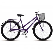 Bicicleta Colli Barra Fort Violeta Aro 26 36 Raias Freios V-Brake