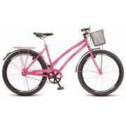 Bicicleta Colli Ciça Rosa Sem Marcha Aro 26 Freio V-Break