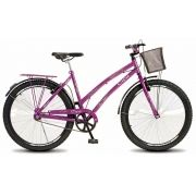 Bicicleta Colli Ciça Violeta Sem Marcha Aro 26 Freio V-Break