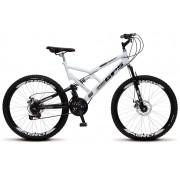 Bicicleta Colli Dupla Susp. Branco Aro 26 36 Raias 21 Marchas Freios a Disco