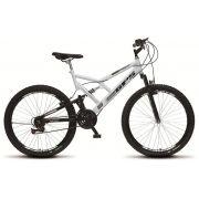 Bicicleta Colli Dupla Susp. Branco Aro 26 36 Raias 21 Marchas Freios v-Brake