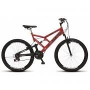 Bicicleta Colli Dupla Susp. Vermelho Aro 26 36 Raias 21 Marchas Freios v-Brake