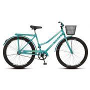 Bicicleta Colli Fort Aro 26 Freio Contra Pedal Cestão Bagageiro Verde Acqua