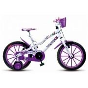 Bicicleta Colli Fruit Amorinha Aro 16 Branca Freios V-Brake