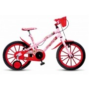Bicicleta Colli Fruit Moranguinho Aro 16 Rosa Freios V-Brake