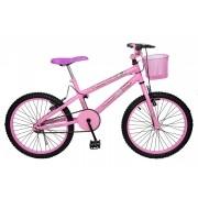 Bicicleta Colli Jully Rosa Aro 20 Freios V- Brake