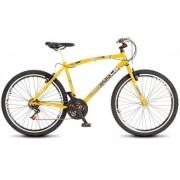 Bicicleta Colli MTB CB500 Amarelo Aro 26 36 Raias Freios V-Brake
