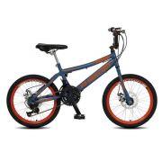 Bicicleta Colli Skill Boy Aro 20 Freio a Disco 21 Marchas Azul Fosco