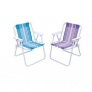 Cadeira De Praia Infantil Alta Em Aço Cores Sortidas - Mor