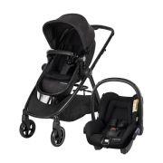 Carrinho De Bebê Maxi Cosi Anna Nomad Black com Bebê Conforto