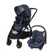 Carrinho De Bebê Maxi Cosi Anna Nomad Blue com Bebê Conforto