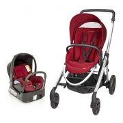 Carrinho De Bebê Maxi Cosi Elea Robin Red com Bebê Conforto