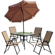 Conjunto De Mesa Com 4 Cadeiras Para Jardim Acapulco - Mor