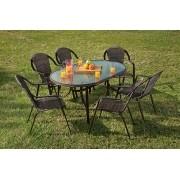 Conjunto De Mesa Com 6 Cadeiras Para Jardim Kalahari - Mor