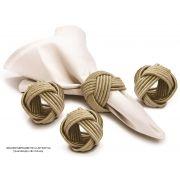 Conjunto de Argolas para Guardanapos 4 Peças Champagne Tyft