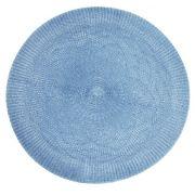 Jogo Americano Redondo Crochet Azul Tyft