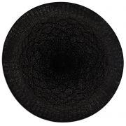Jogo Americano Redondo Crochet Preto Tyft